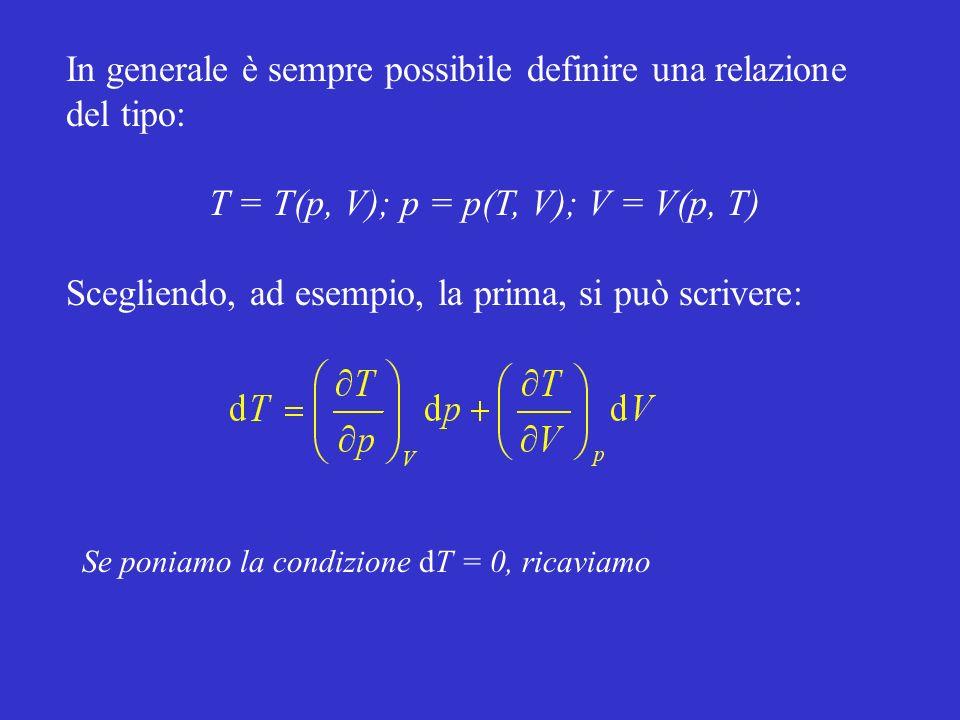 T = T(p, V); p = p(T, V); V = V(p, T)