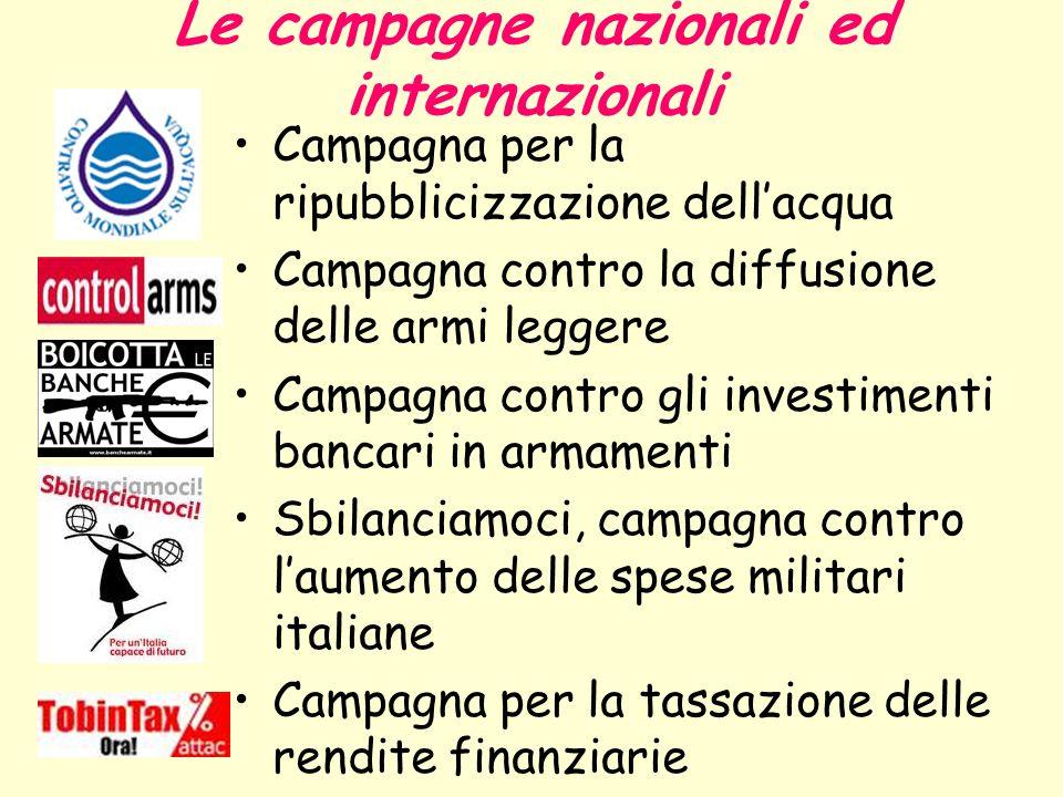 Le campagne nazionali ed internazionali