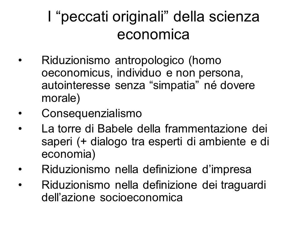 I peccati originali della scienza economica