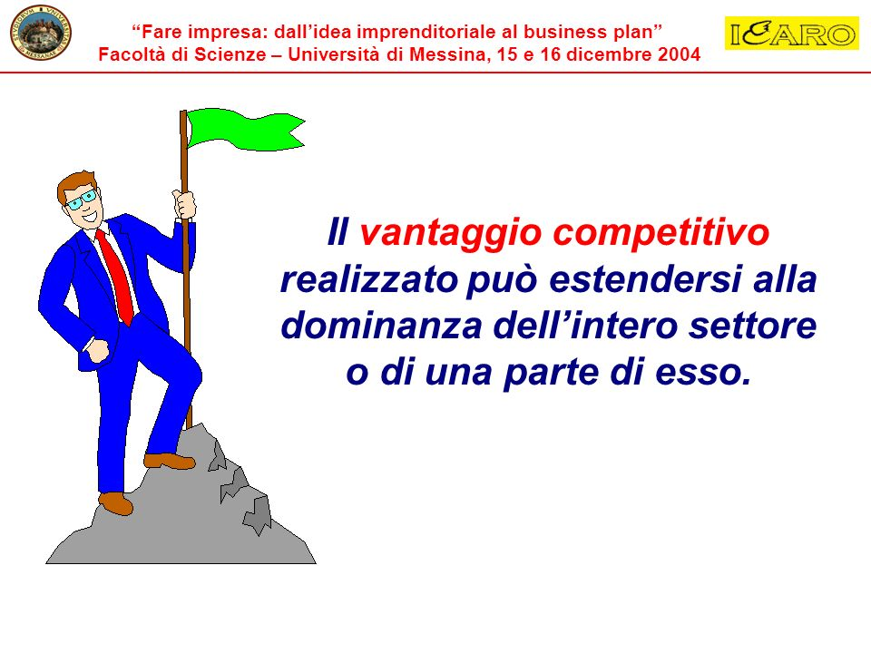 Il vantaggio competitivo realizzato può estendersi alla dominanza dell'intero settore o di una parte di esso.