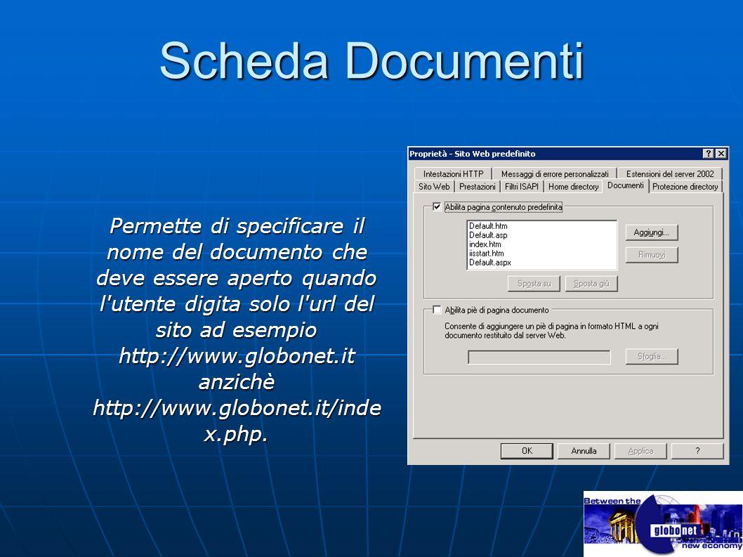 Scheda Documenti