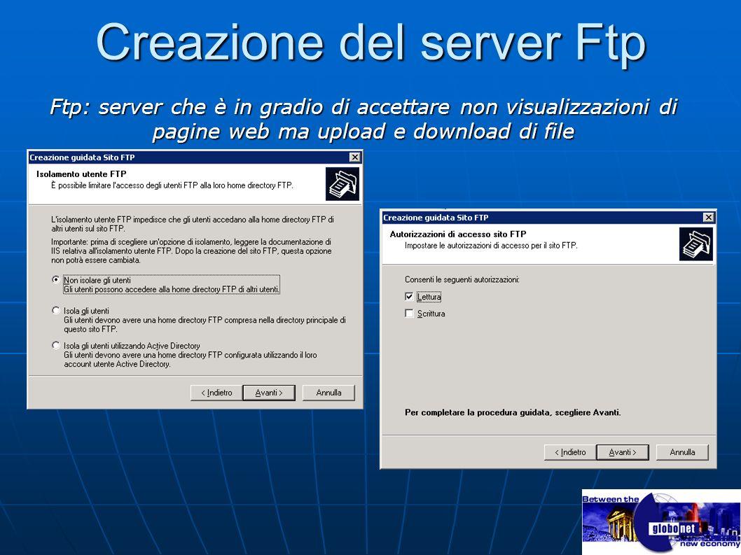 Creazione del server Ftp