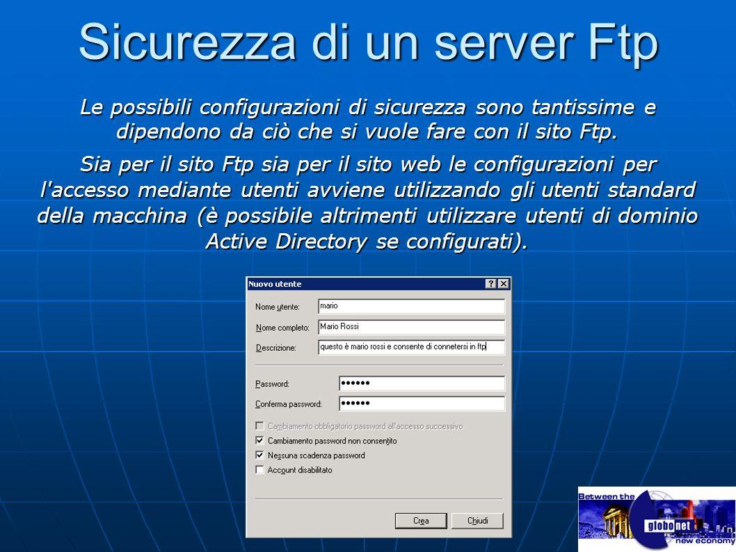 Sicurezza di un server Ftp