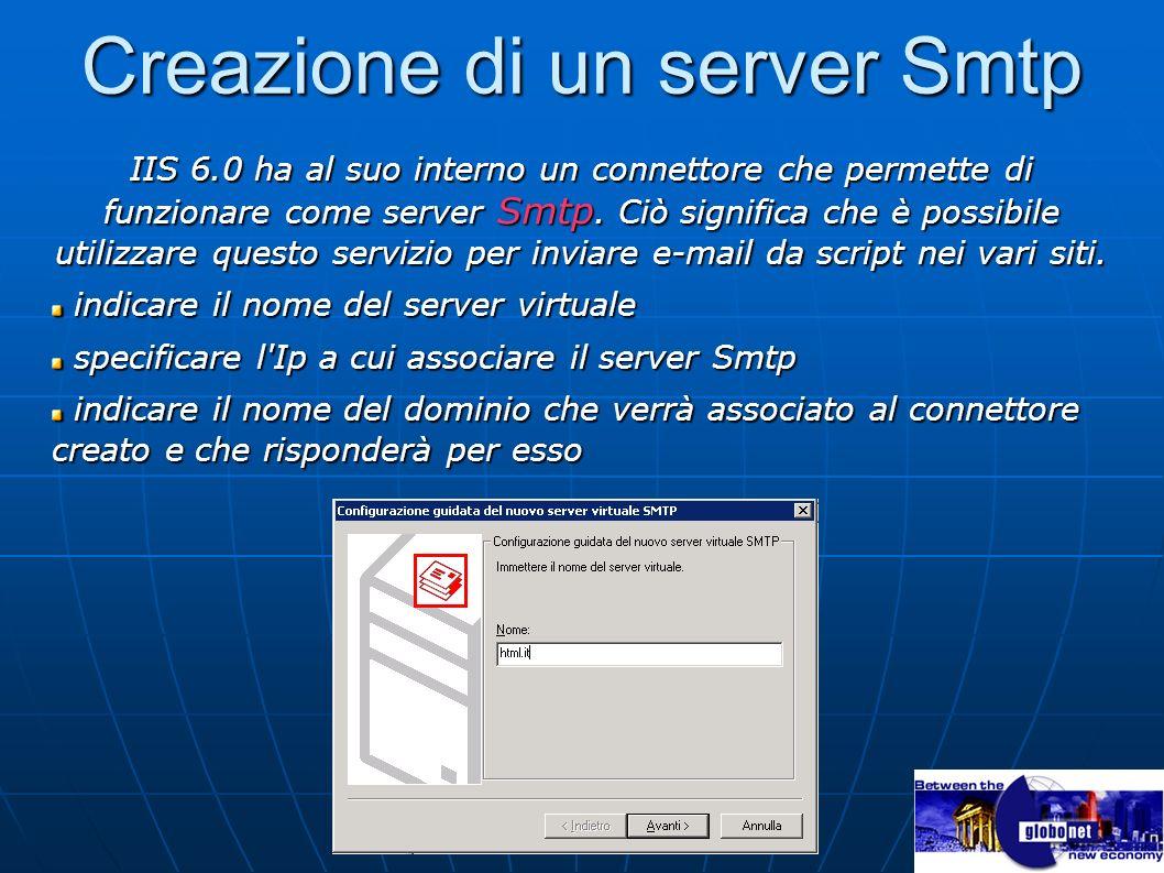 Creazione di un server Smtp