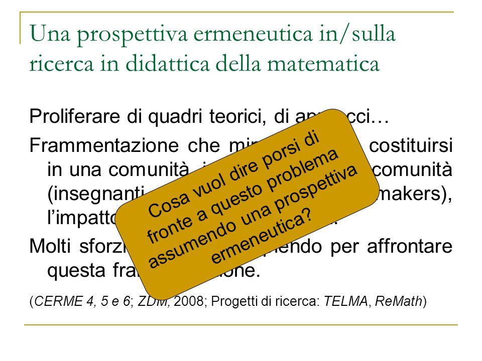 Una prospettiva ermeneutica in/sulla ricerca in didattica della matematica