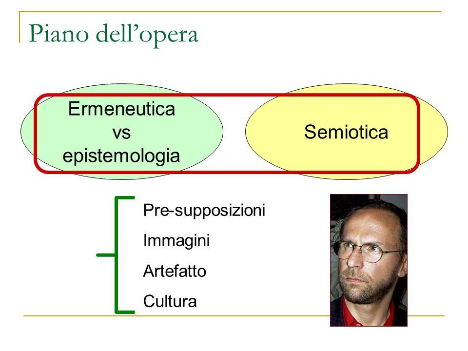 Piano dell'opera Ermeneutica vs epistemologia Semiotica