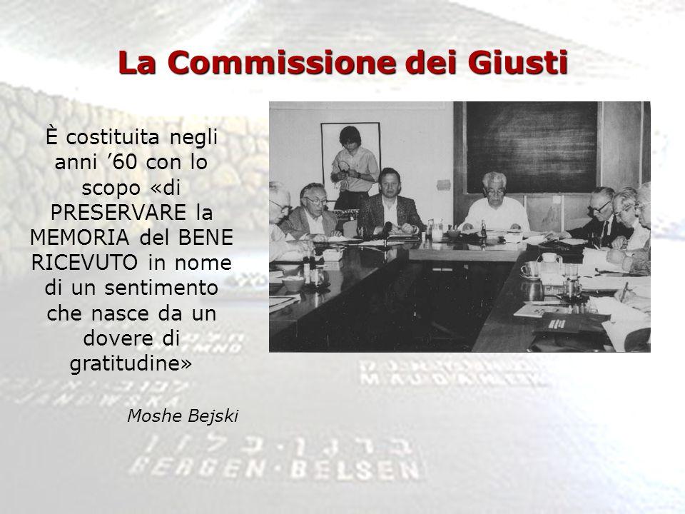 La Commissione dei Giusti