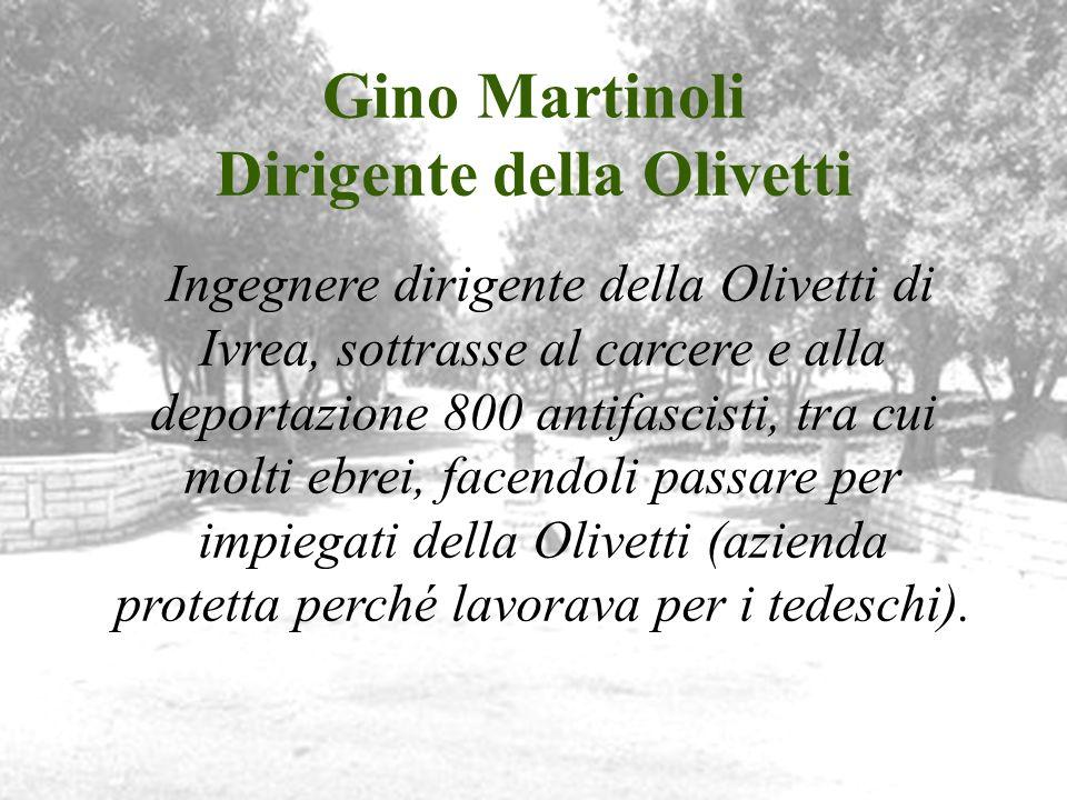 Gino Martinoli Dirigente della Olivetti