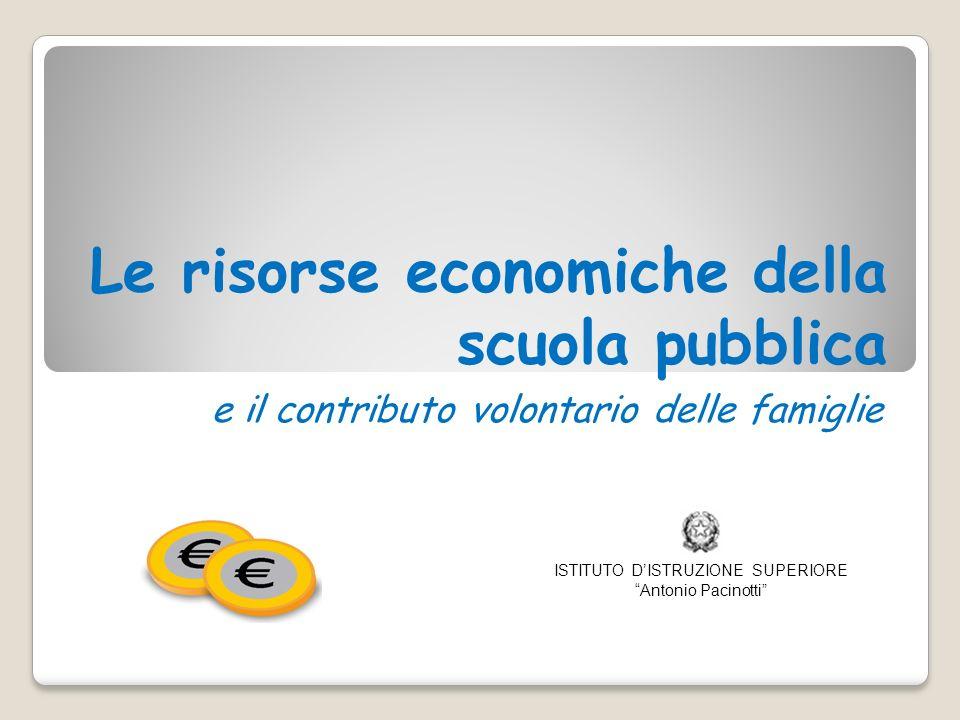 Le risorse economiche della scuola pubblica