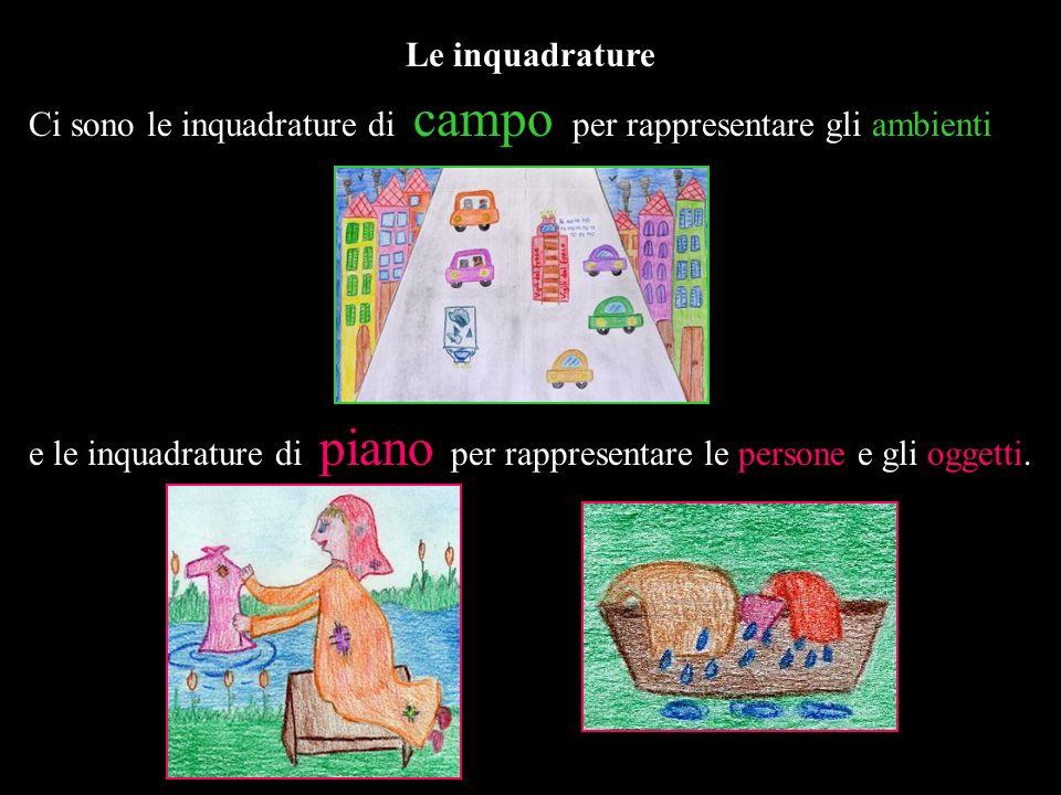 Le inquadrature Ci sono le inquadrature di campo per rappresentare gli ambienti.