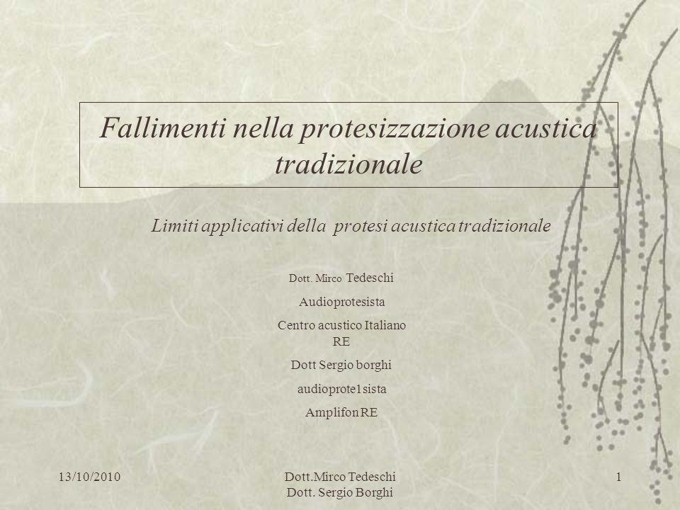 Fallimenti nella protesizzazione acustica tradizionale