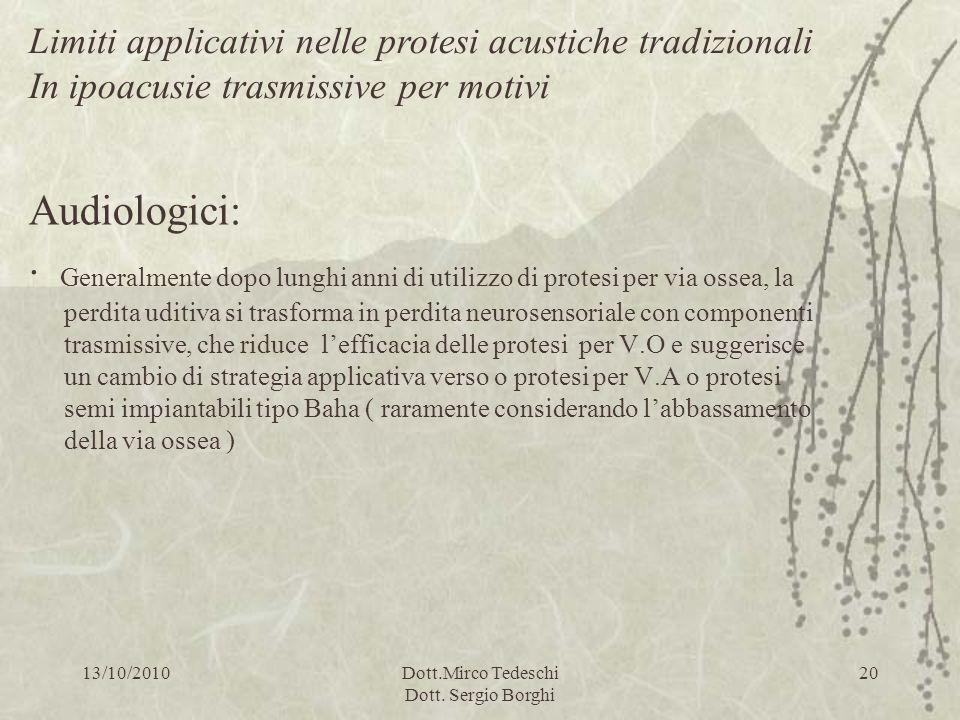Dott.Mirco Tedeschi Dott. Sergio Borghi