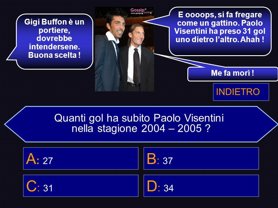 Gigi Buffon è un portiere, dovrebbe intendersene. Buona scelta !
