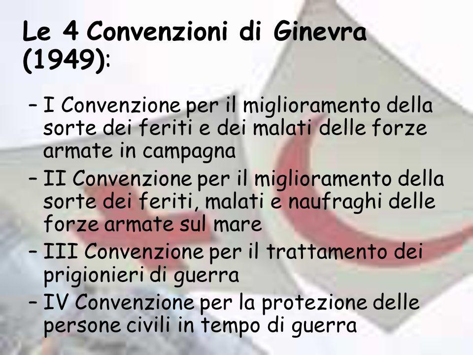 Le 4 Convenzioni di Ginevra (1949):