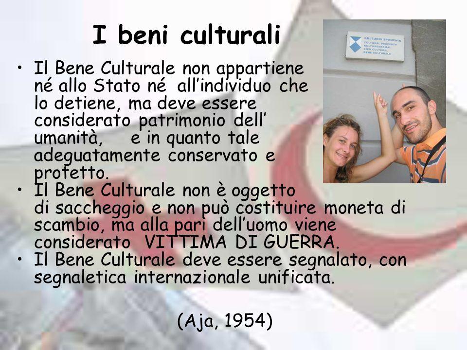 I beni culturali Il Bene Culturale non appartiene