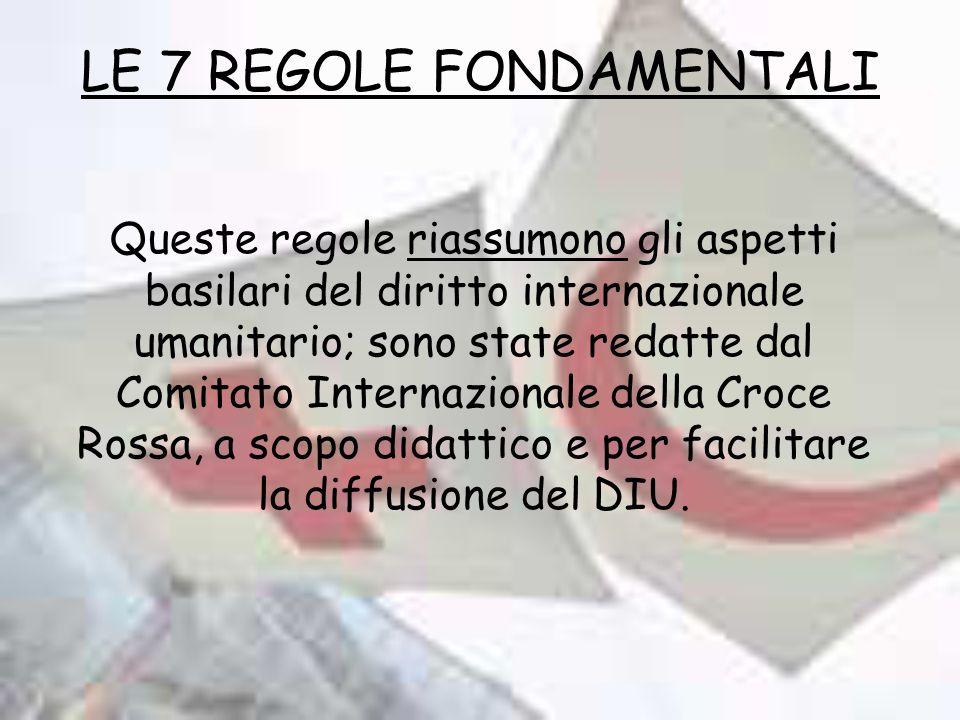 LE 7 REGOLE FONDAMENTALI