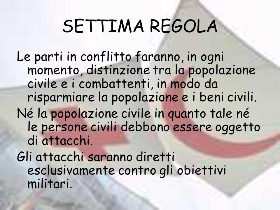 SETTIMA REGOLA