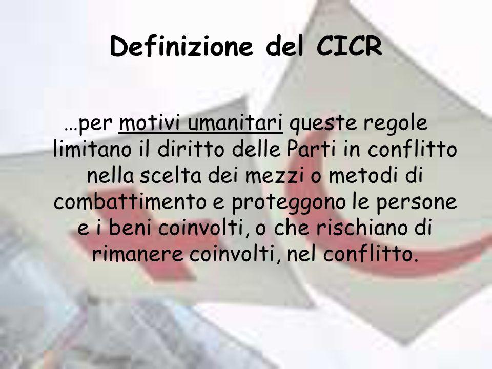 Definizione del CICR