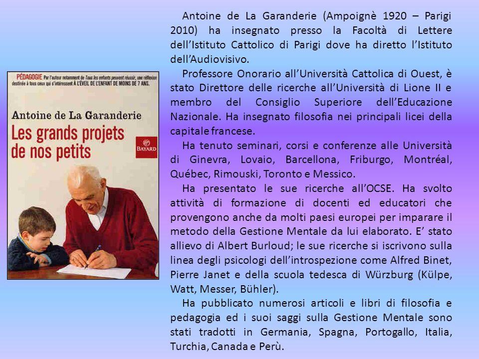 Antoine de La Garanderie (Ampoignè 1920 – Parigi 2010) ha insegnato presso la Facoltà di Lettere dell'Istituto Cattolico di Parigi dove ha diretto l'Istituto dell'Audiovisivo.