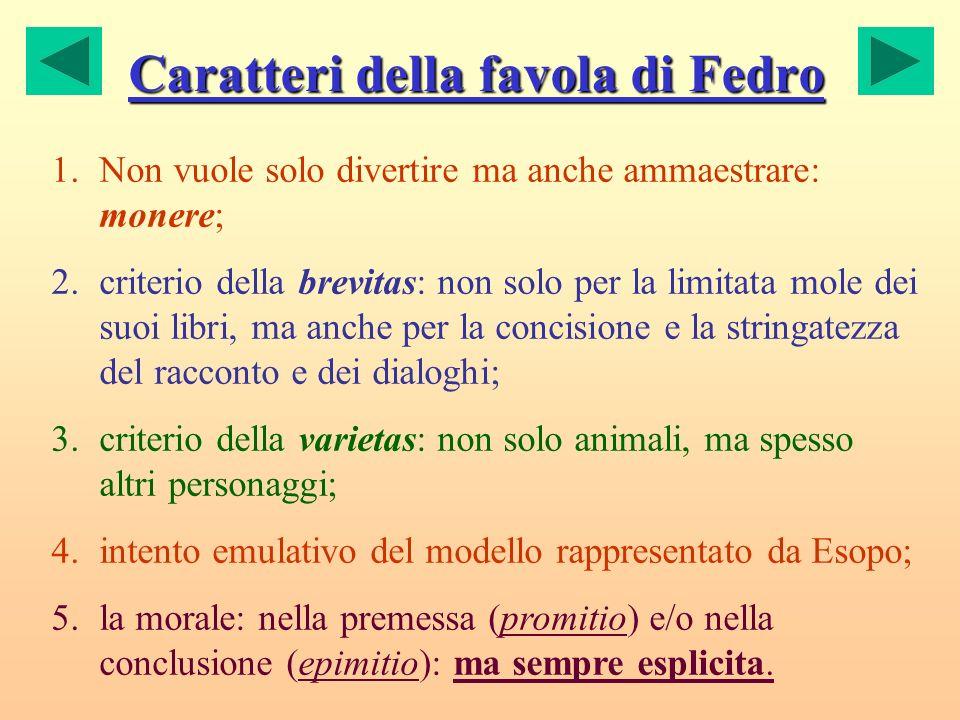 Caratteri della favola di Fedro
