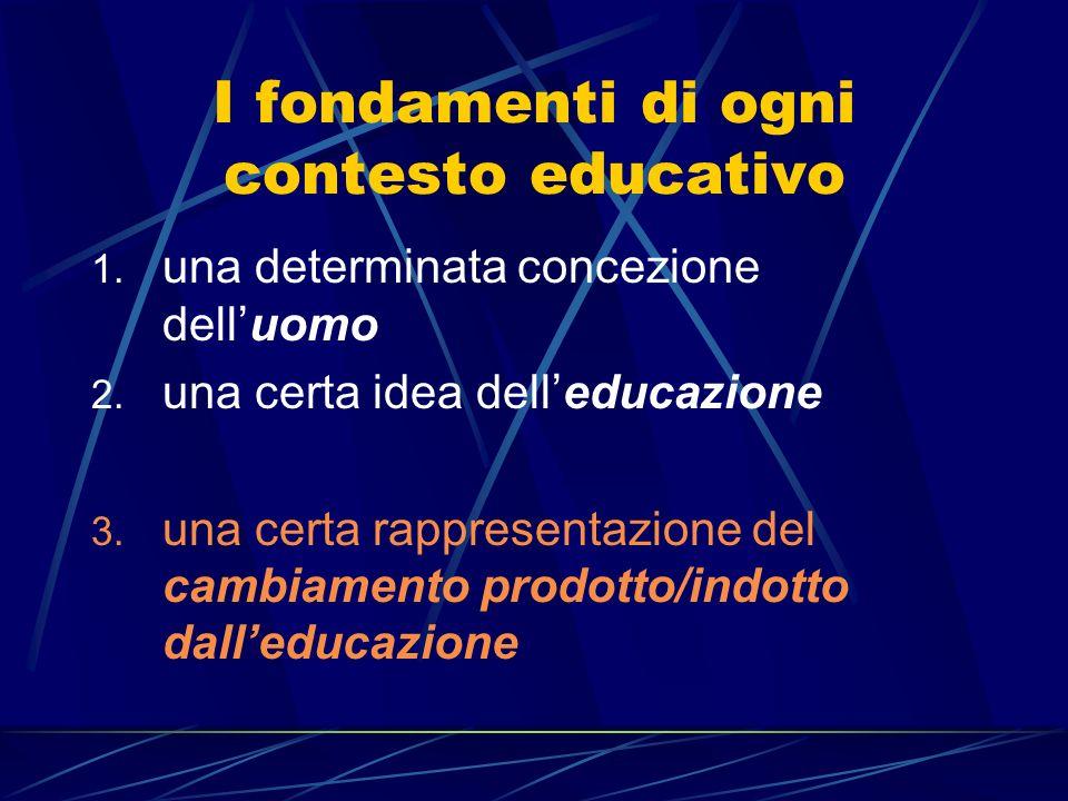 I fondamenti di ogni contesto educativo
