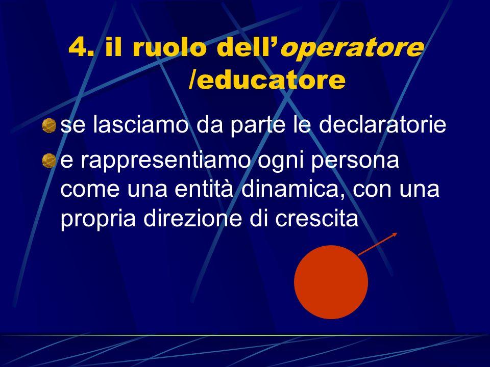 4. il ruolo dell'operatore /educatore