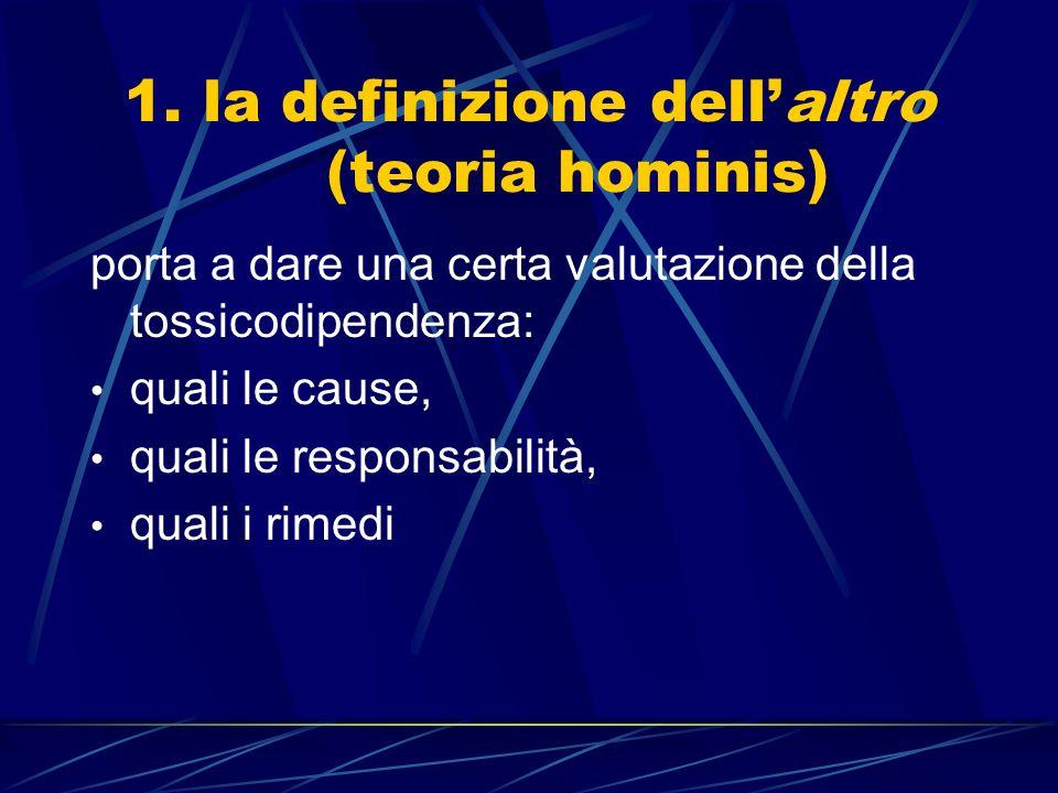 1. la definizione dell'altro (teoria hominis)