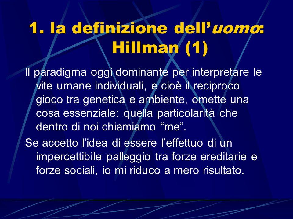 1. la definizione dell'uomo: Hillman (1)