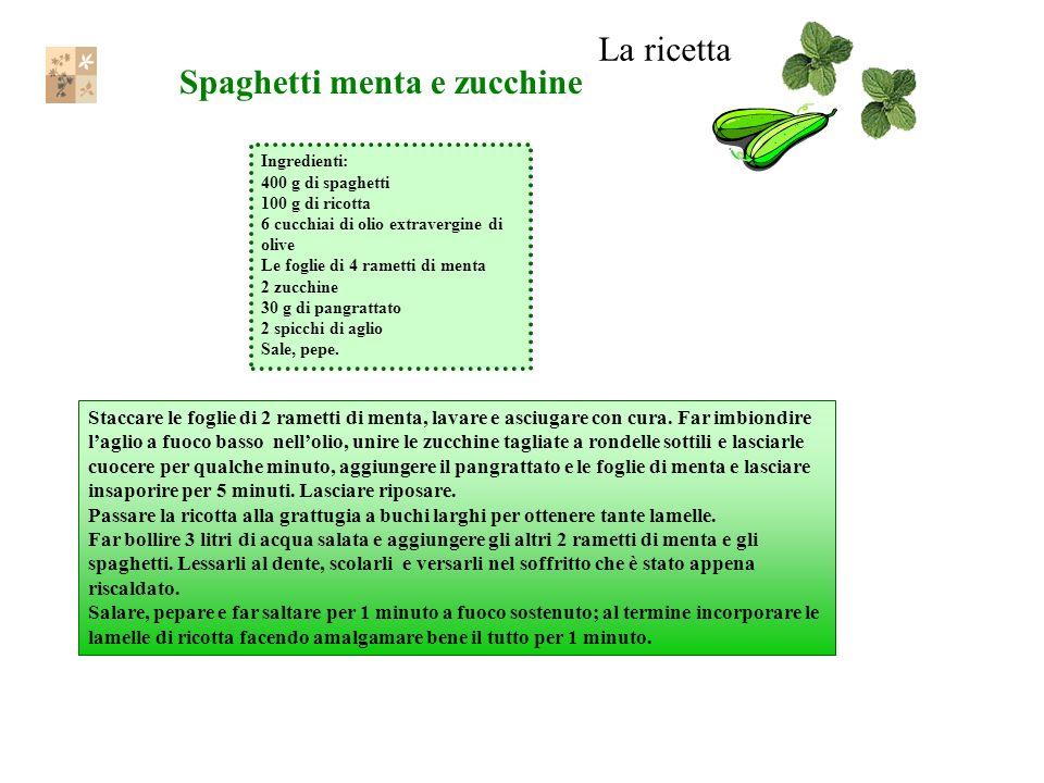 Spaghetti menta e zucchine