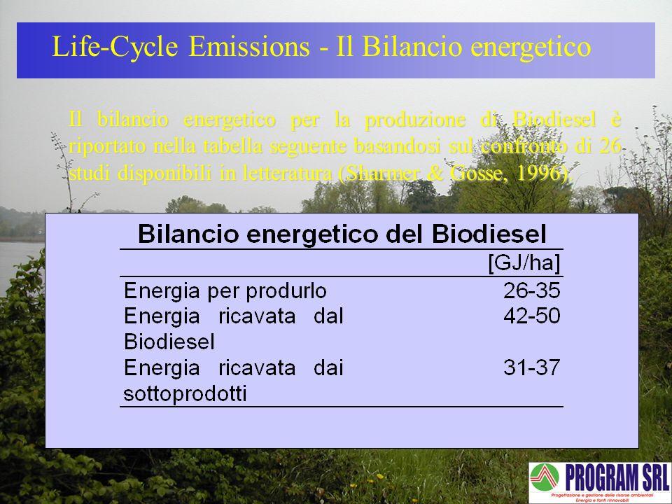 Life-Cycle Emissions - Il Bilancio energetico