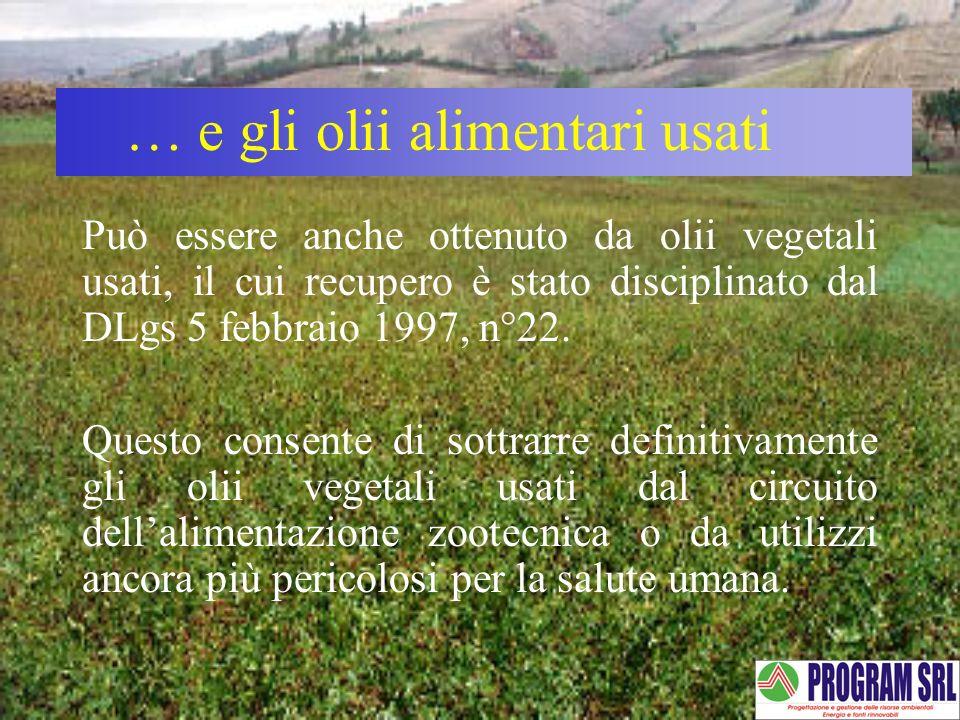 … e gli olii alimentari usati