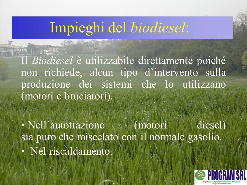 Impieghi del biodiesel: