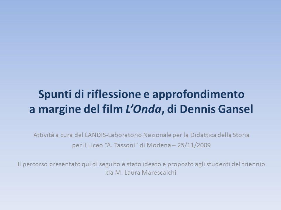 per il Liceo A. Tassoni di Modena – 25/11/2009
