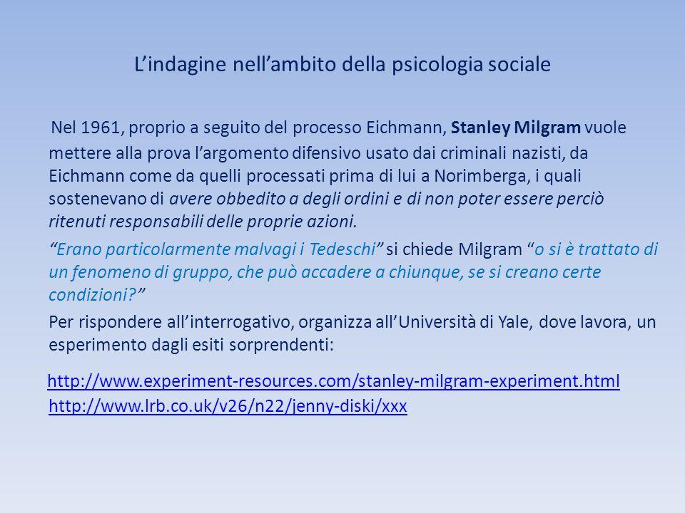 L'indagine nell'ambito della psicologia sociale