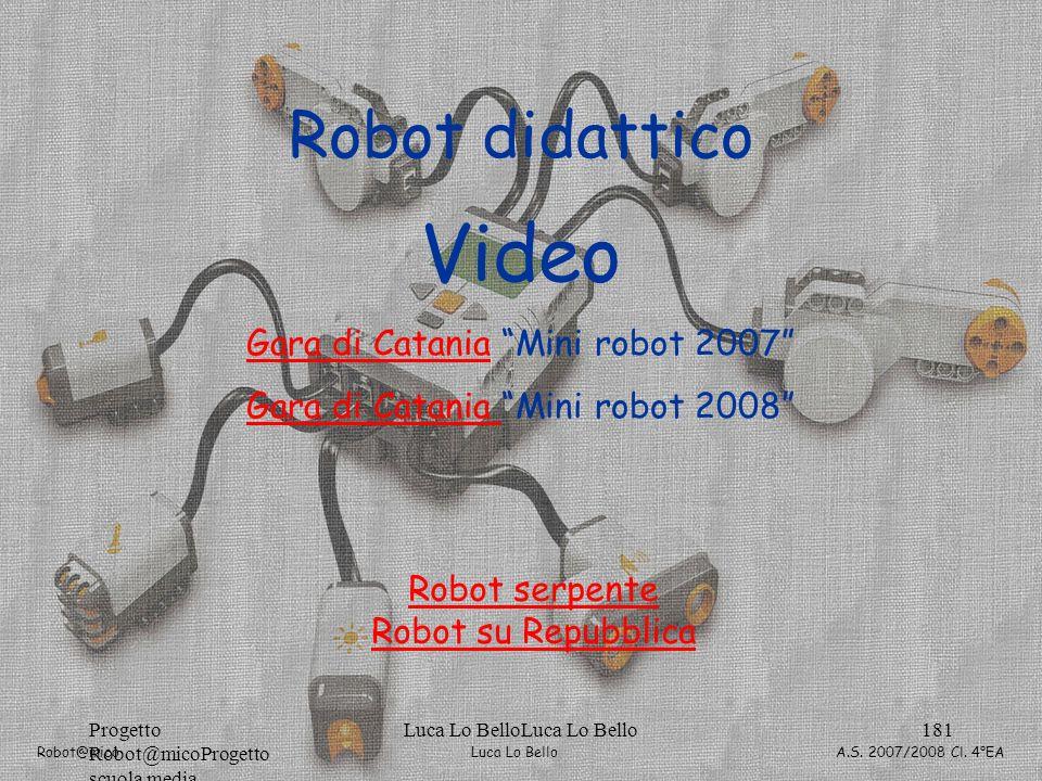 Video Robot didattico Gara di Catania Mini robot 2007