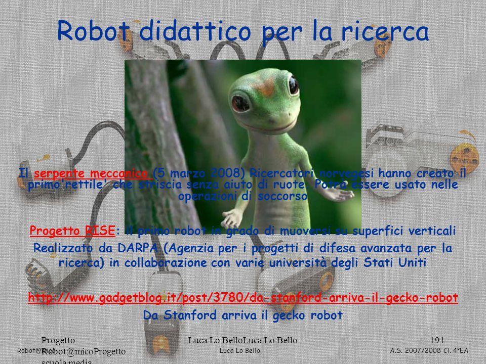 Robot didattico per la ricerca