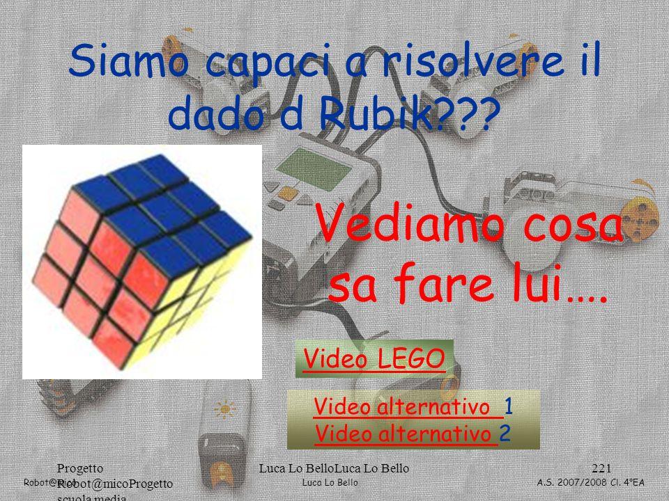 Siamo capaci a risolvere il dado d Rubik