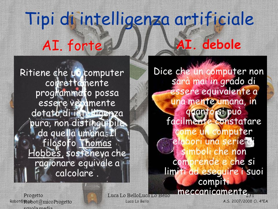 Tipi di intelligenza artificiale