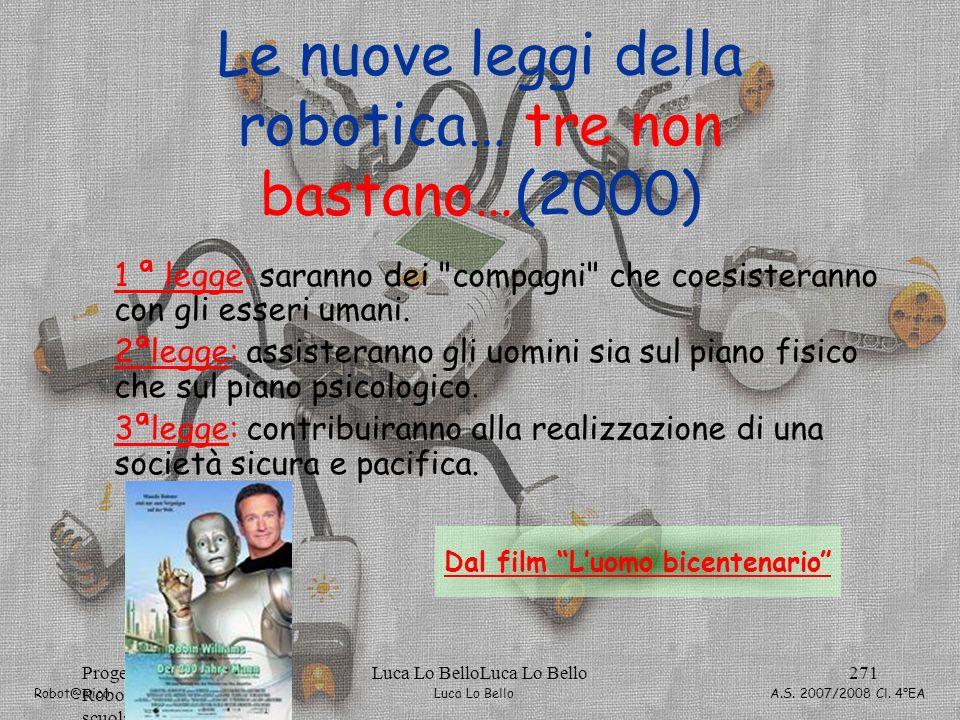 Le nuove leggi della robotica… tre non bastano…(2000)