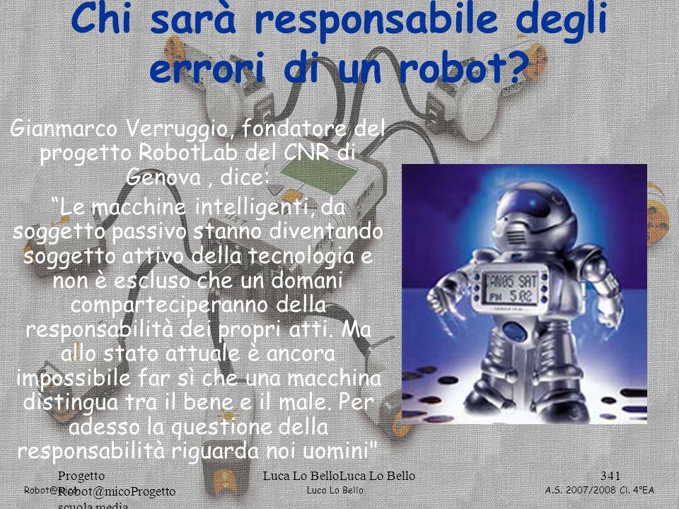 Chi sarà responsabile degli errori di un robot