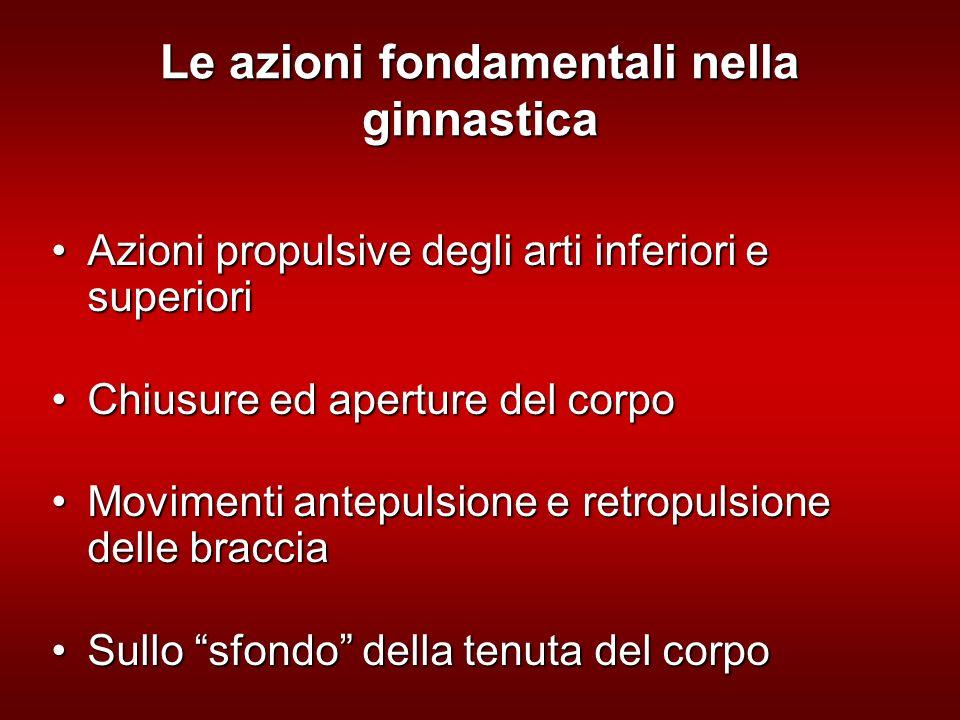Le azioni fondamentali nella ginnastica