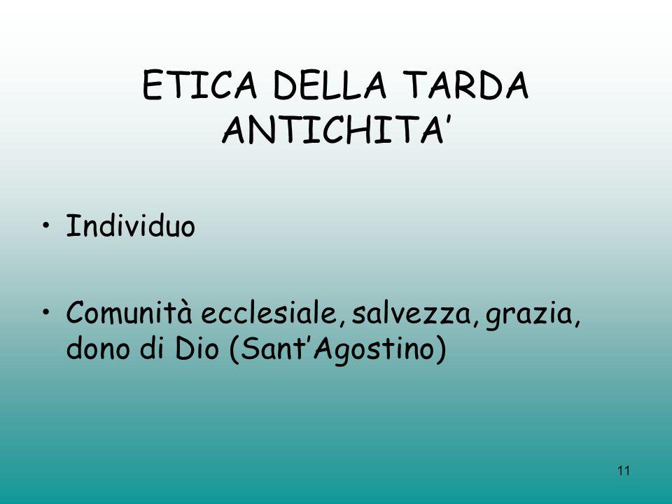 ETICA DELLA TARDA ANTICHITA'