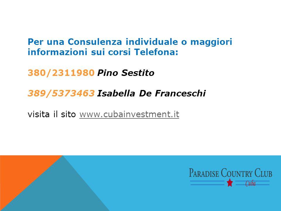 Per una Consulenza individuale o maggiori informazioni sui corsi Telefona: