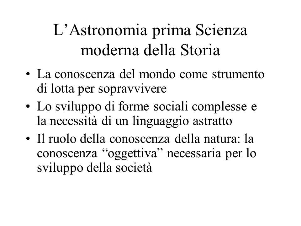 L'Astronomia prima Scienza moderna della Storia