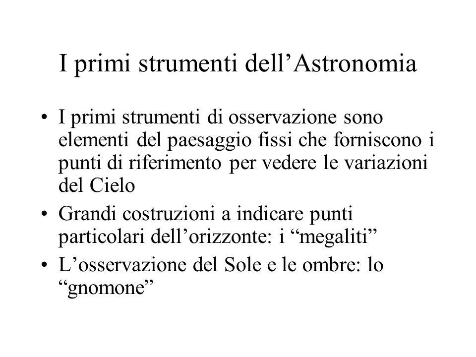 I primi strumenti dell'Astronomia