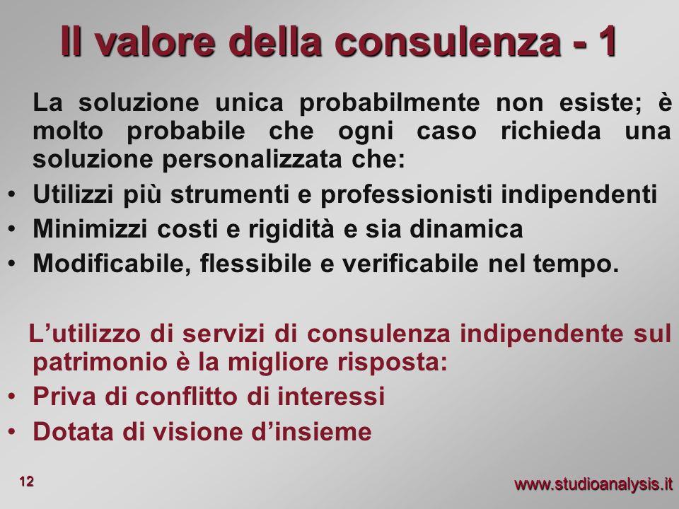 Il valore della consulenza - 1