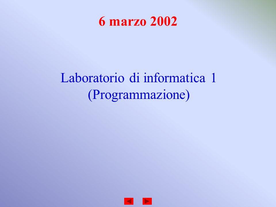 Laboratorio di informatica 1