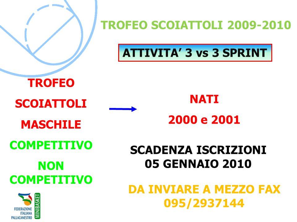 SCADENZA ISCRIZIONI 05 GENNAIO 2010