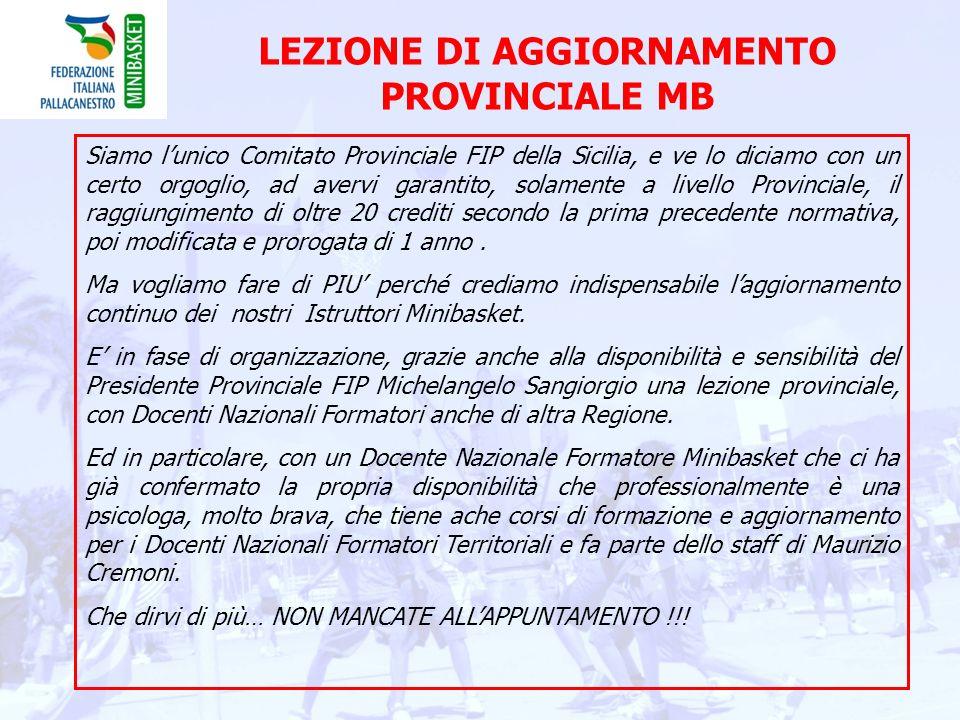 LEZIONE DI AGGIORNAMENTO PROVINCIALE MB
