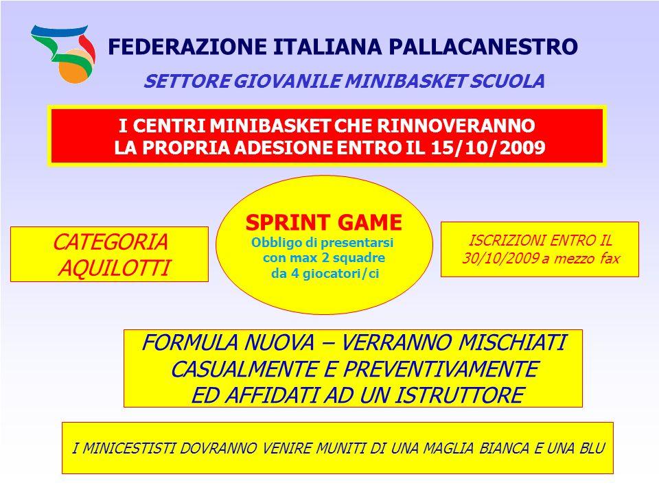 FEDERAZIONE ITALIANA PALLACANESTRO SPRINT GAME